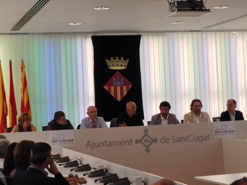 Presentació del Pacte Santcugatenc pel Dret a Decidir (2/2)