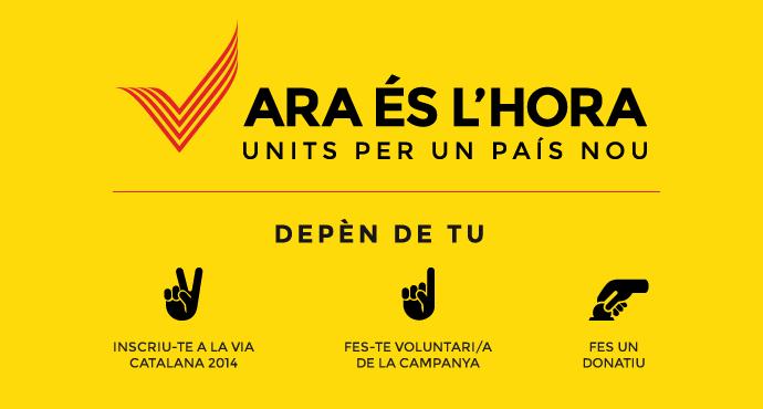 Inscripció Via Catalana 2014.