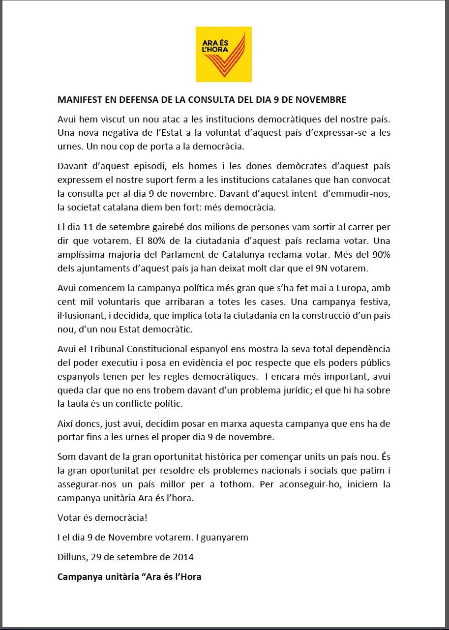 Manifest 29Setembre