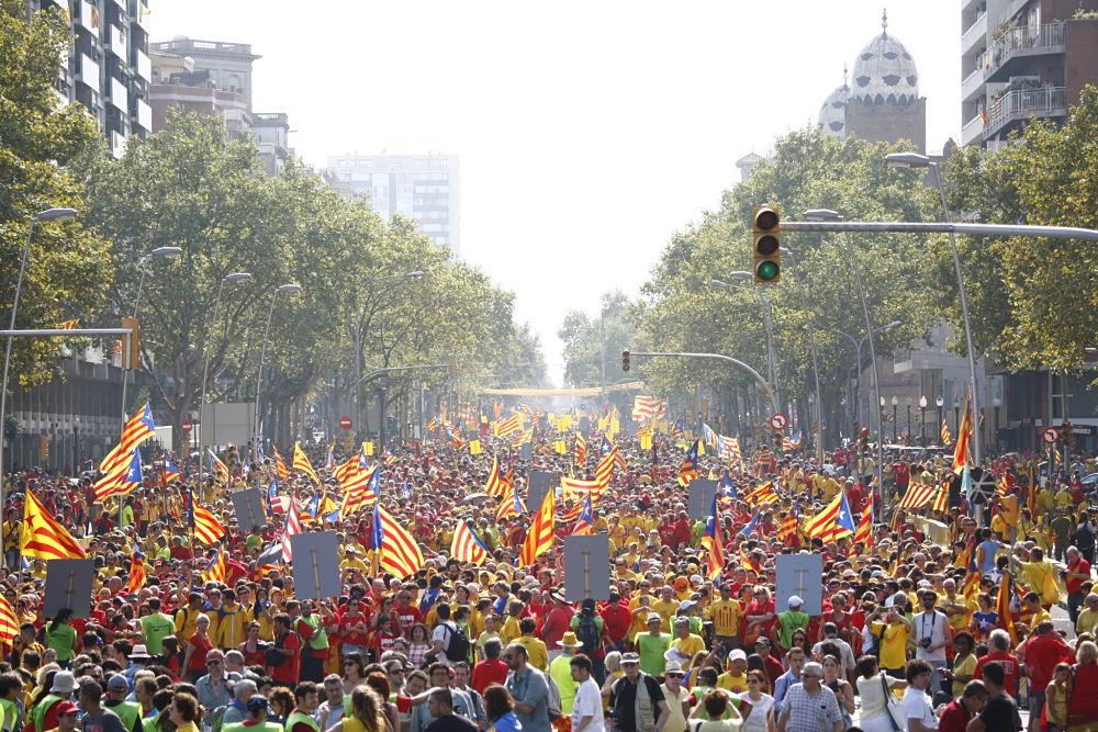 La Via Catalana 2014 es converteix en la mobilització més multitudinària de la història d'Europa
