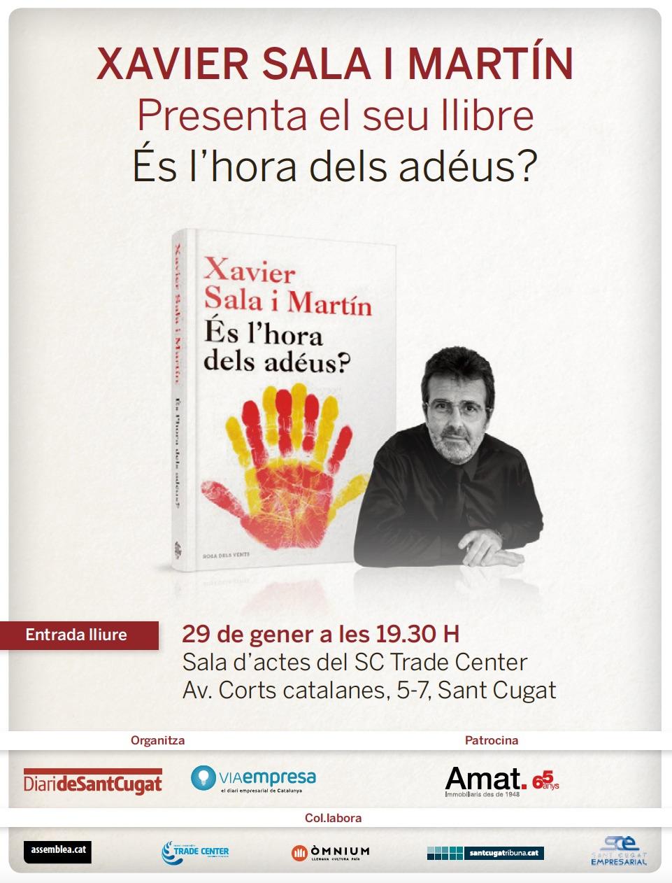 Xavier sala i mart n presenta avui el seu ltim llibre al - Trade center sant cugat ...