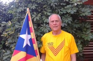 Ernest Tomàs, voluntari de l'assemblea territorial de Sant Cugat de l'ANC