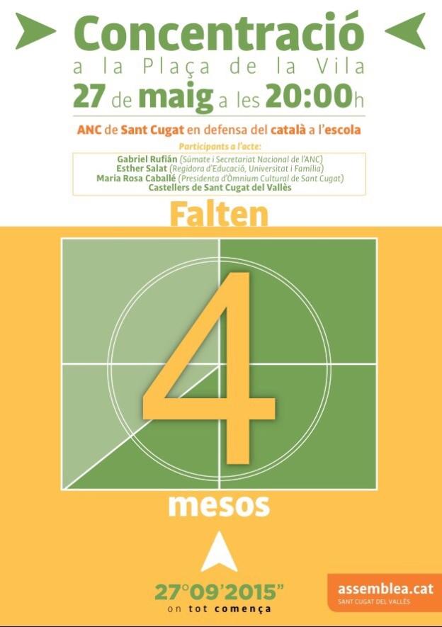 Concentració 27 de maig a la Pl de la Vila
