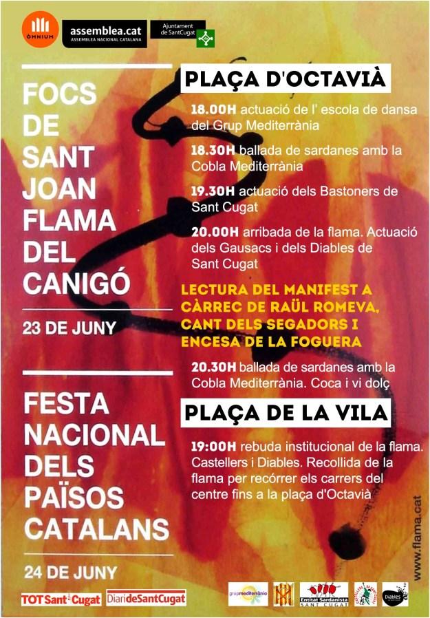 cartell Flama del Canigó 2015