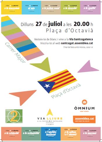 27 de juliol, Via Santcugatenca