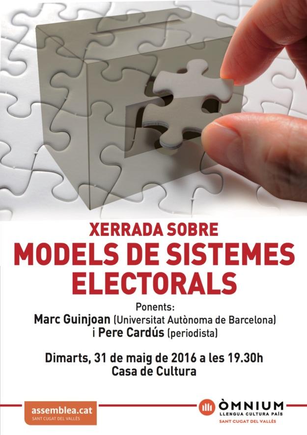 20160531 Cartell Sistemes Electorals